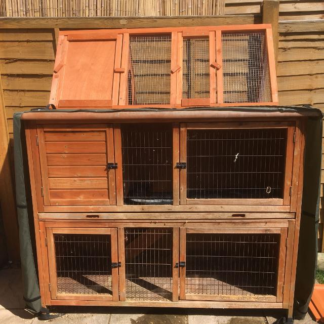 Find More Rabbit Guinea Pig Hutch And Hutch Hugger With Free Run For