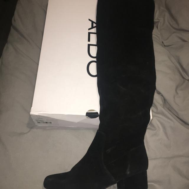 9d9f0f1306d Aldo Black suede over the knee boots Olilassa size 9 ladies