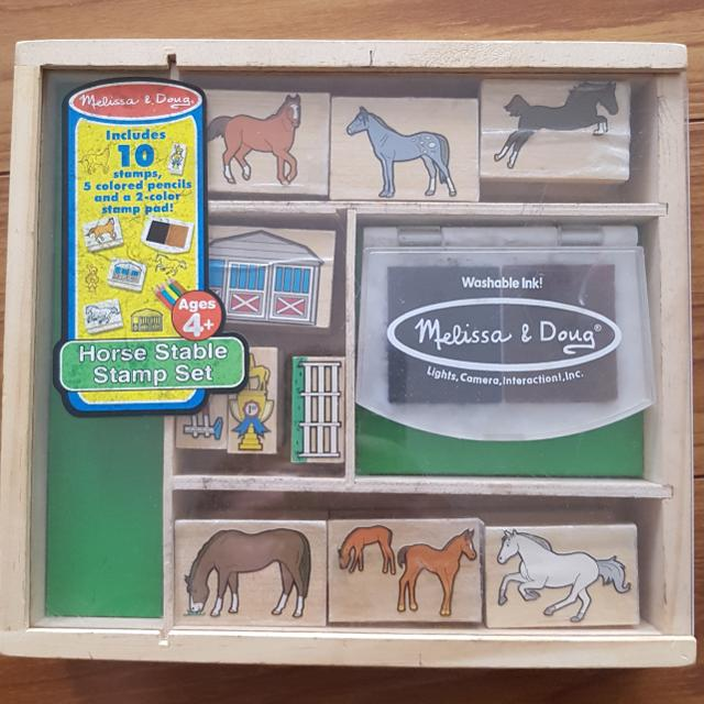 Melissa Doug Wooden Stamp Activity Set Horse Stable