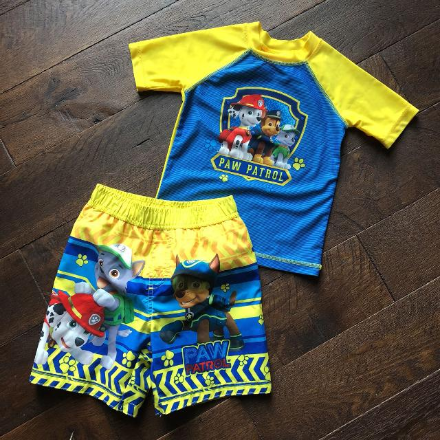 d6c0080c3a067 Find more Paw Patrol Swim Trunks And Rash Guard Nwot for sale at up ...