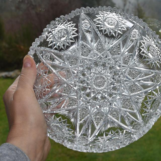 Crystal Candy Dish 8 Inches Across
