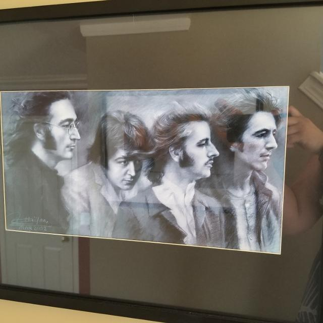 Find more Framed Beatles Drawing for sale at up to 90% off