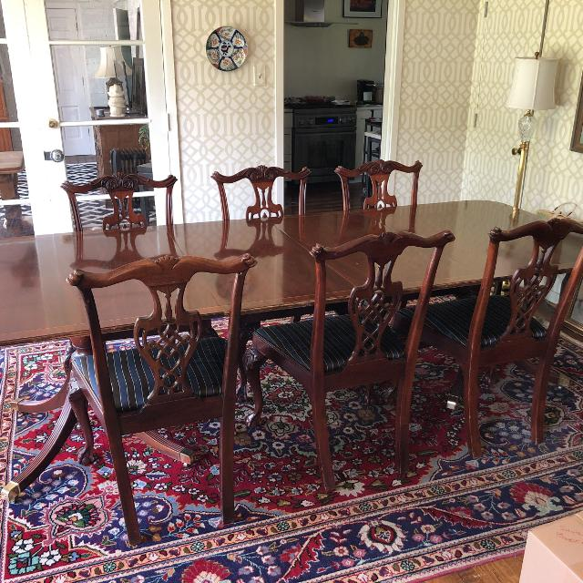 Best Baker Furniture Historic Charleston Double Pedestal Mahogany Dining Table Chairs Listed Separately For In Memphis Tennessee 2019