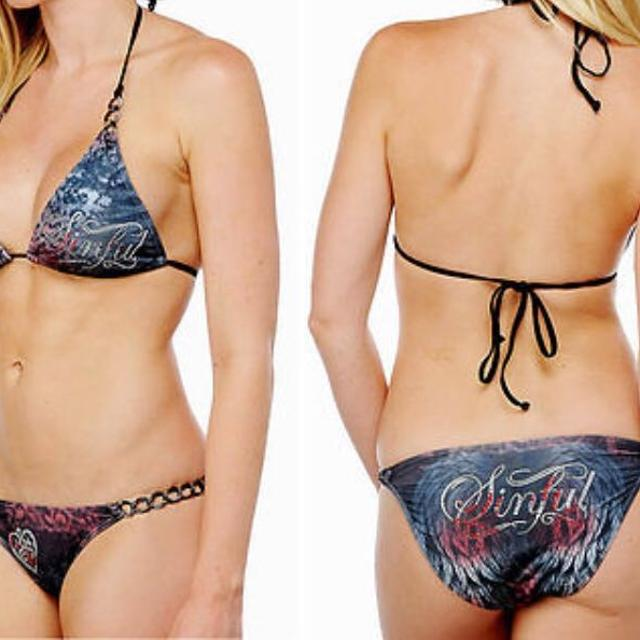 70aace41b9 Find more Sinful Affliction Swimsuit Medium for sale at up to 90 ...