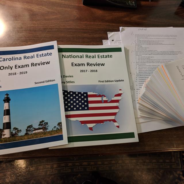 NC Real Estate License Exam Cram Materials
