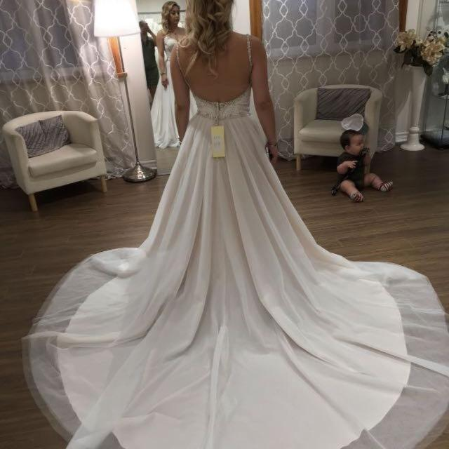 Best Allure Wedding Dress. Size 6. Colour: Ivory/pink Corset-style ...