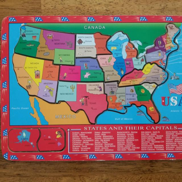 States and their capitals puzzle