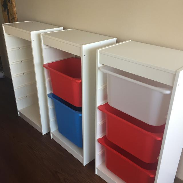 Find more 3 White Ikea Trofast Storage Frames for sale at up to 90% off