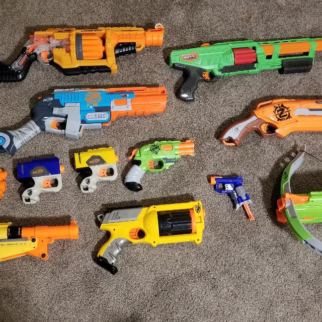 Nerf Gun Armory with bullets