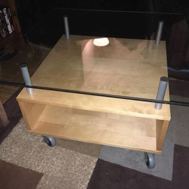 Glass Top Coffee Table With Storage 2