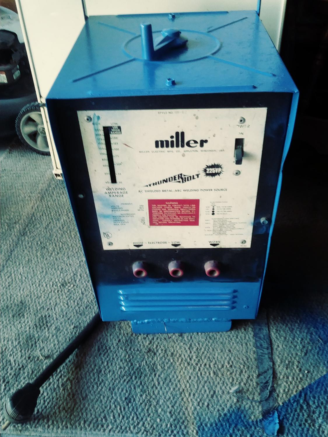 Miller Arc Welder >> Best Miller Thunderbolt 225 Arc Welder For Sale In Plymouth