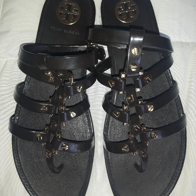 e53142b260b7 Best Tory Burch Gladiator Sandals Dark Brown And Gold Size 9 Excellent  Condition! for sale in Calgary