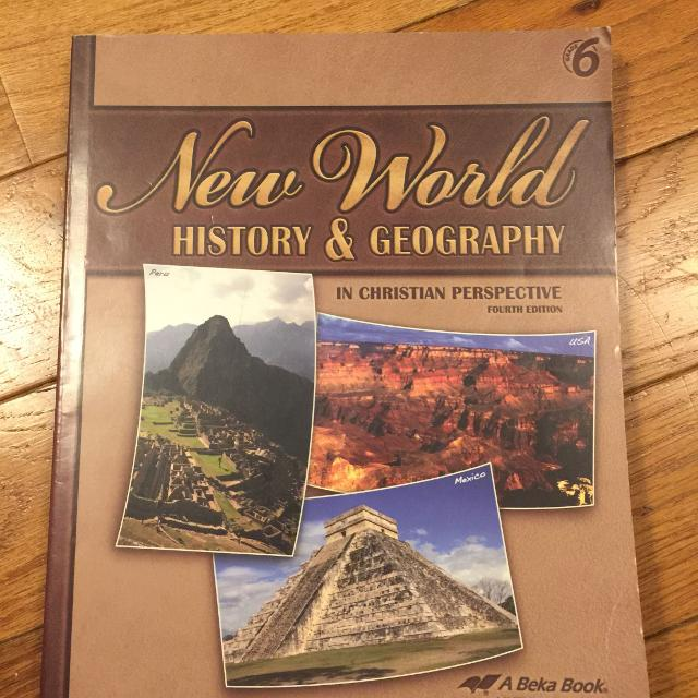 Abeka Books: 6th Grade New world History and Geography in Christian  Perspective