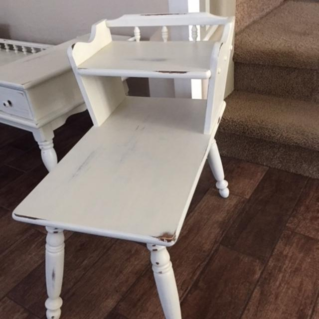 Best Colonial Farmhouse Shabby Chic White End Table For In Surprise Arizona 2019