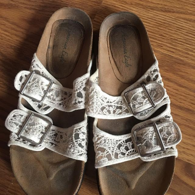 9e85f92c5bfa Find more American Eagle Tan Lace Sandals Size 9.5 for sale at up to ...