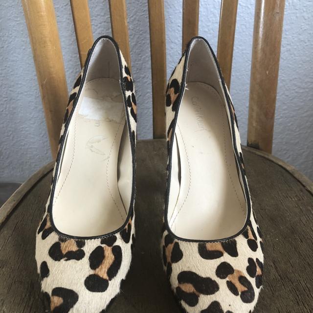 4e746536766 Best New Calvin Klein Leopard Print Wooden Block Heel for sale in Calgary