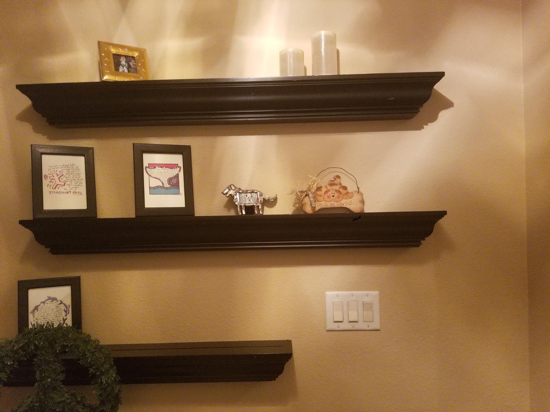 b9hb5n9k pottery barn crown molding shelves black
