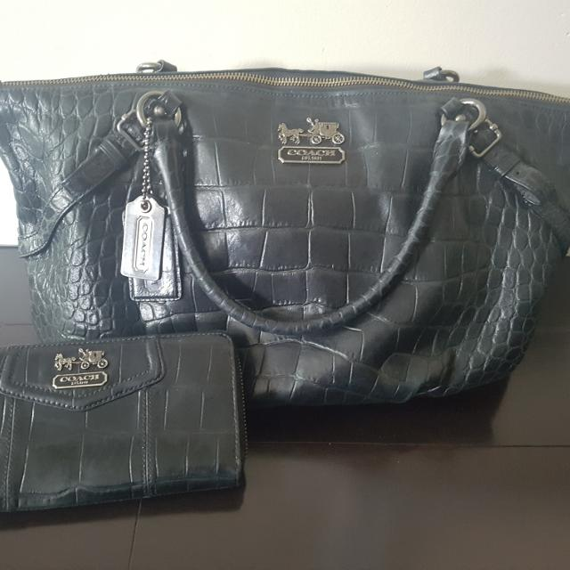 86b60c0015 Best Authentic Black Coach Leather Bag And Wallet for sale in Oshawa,  Ontario for 2019
