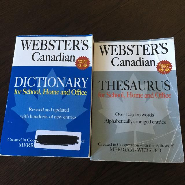 Webster's Dictionary/Thesaurus