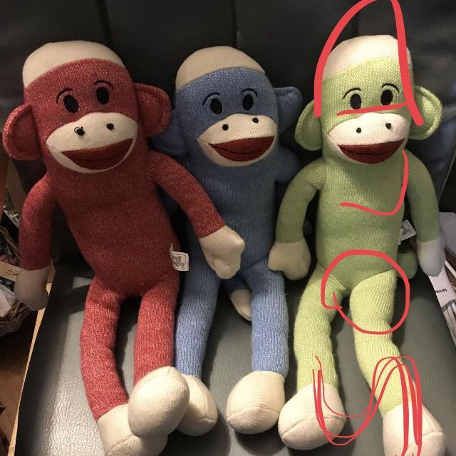Sock Monkey by Street Player  Green Monkey sold