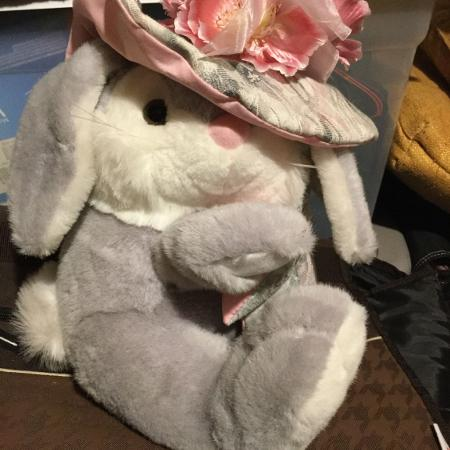 Easter Bonnet Bunny Plush, used for sale  Canada