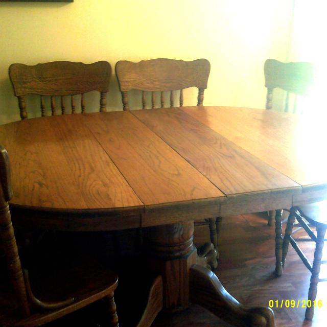 Best Solid Oak Lion S Claw Foot Dining Table Chairs For Sale In Morris County New Jersey For 2021