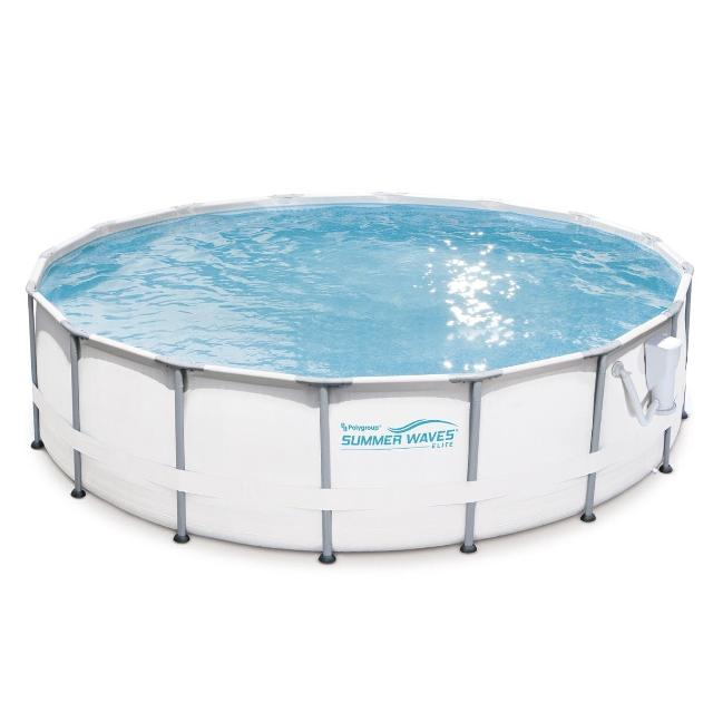 """Summer Waves Elite 16'x48"""" above ground premium frame swimming pool and  upgraded ladder, sand filter, accessories, and solar cover!"""