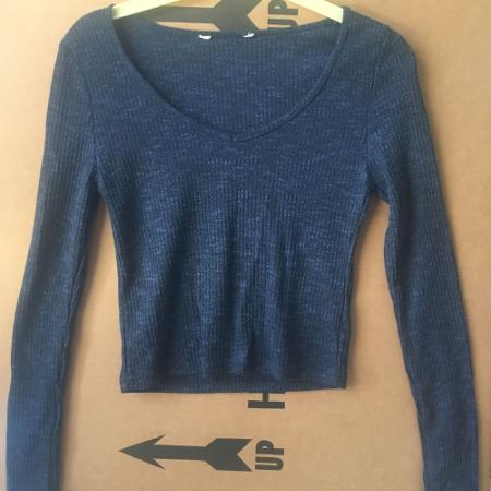 Blue cropped sweater for sale  Canada