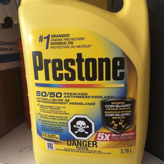 Prestone premixed antifreeze/coolant