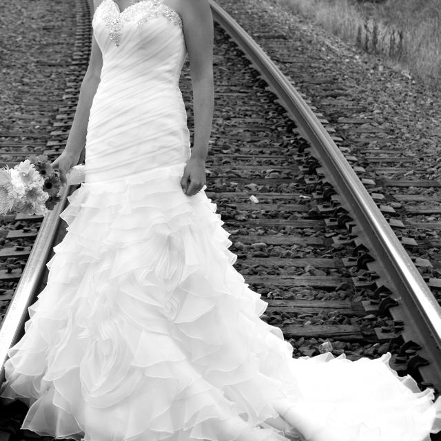 Wedding Dress Organza Fit Flare