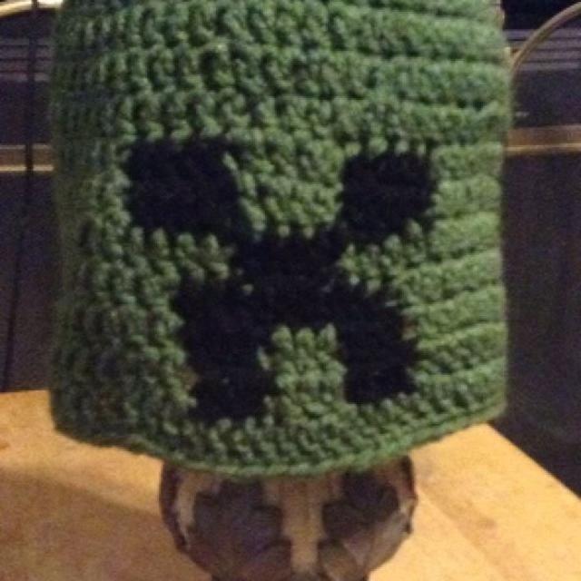 Best Crocheted Minecraft Creeper Hat Perfect Gift For Sale In