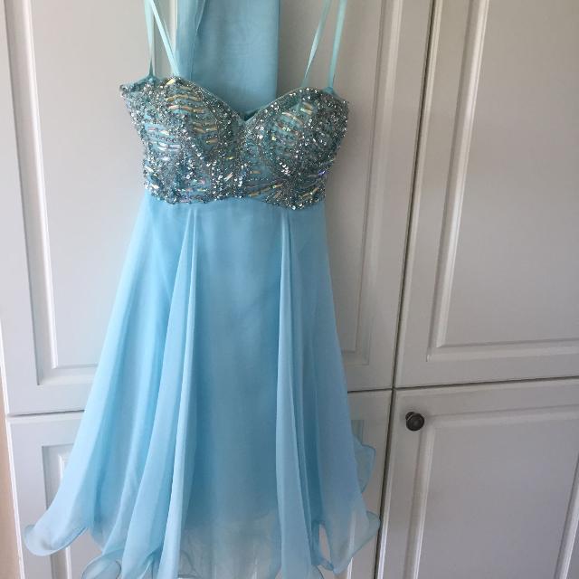1e8b3e0ef8 Best Tiffany Blue Grad prom Dress Size 0 for sale in Orangeville ...