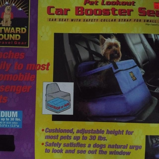 Outward Hound Car Booster Seat For Small Dog Up To 30 Lbs Medium