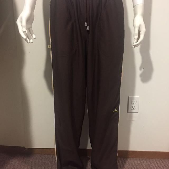 8be99b6f4604e7 Best Jordan Brown Athletic Track Pants Embroidered Jumpman   Jordan Logo  Men s Sz.l for sale in Regina