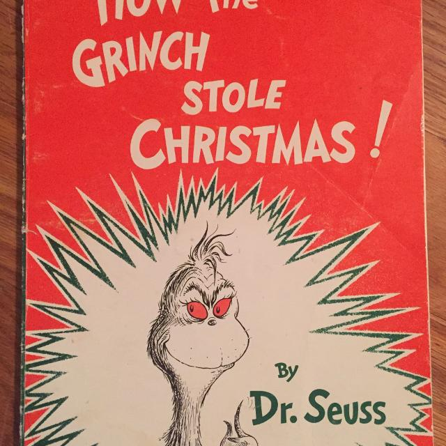 How The Grinch Stole Christmas Book Cover.1988 How The Grinch Stole Christmas Dr Seuss Paperback Book