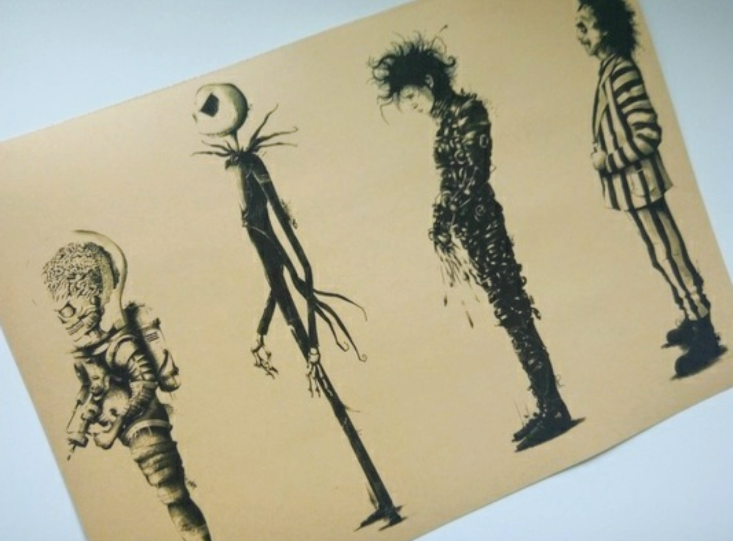 Find more Awesome New Tim Burton Characters Poster for sale at up to ...