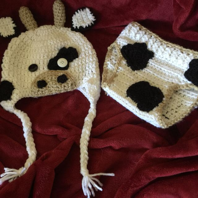Best Cow Hat With Diaper Cover for sale in Killeen 197757ee3f9