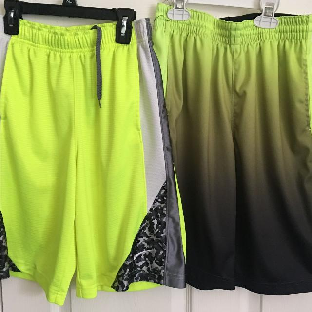 e778c8f90424 Find more Lot Of 2 Nike   Xersion Boy s Neon black Basketball Shorts ...