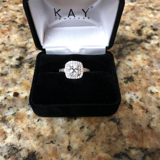 Find More Kay Jewelers Lab Created White Sapphire Ring Sterling Silver Stock Size 6 75 For Sale At Up To 90 Off