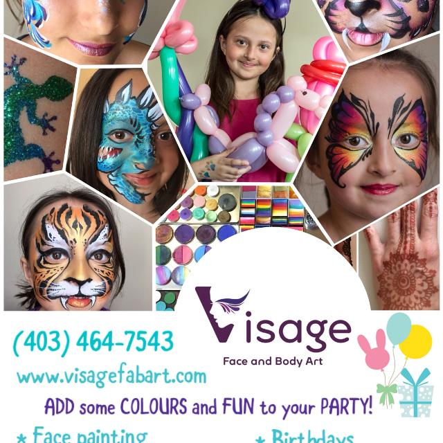 Face Painting Balloon Twisting Glitter Tattoos For Events In