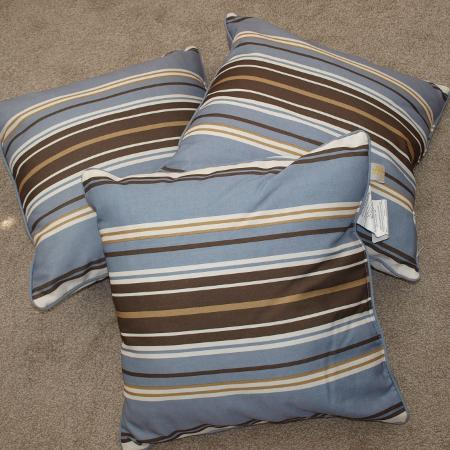 Used, Large Striped Patio Cushions for sale  Canada