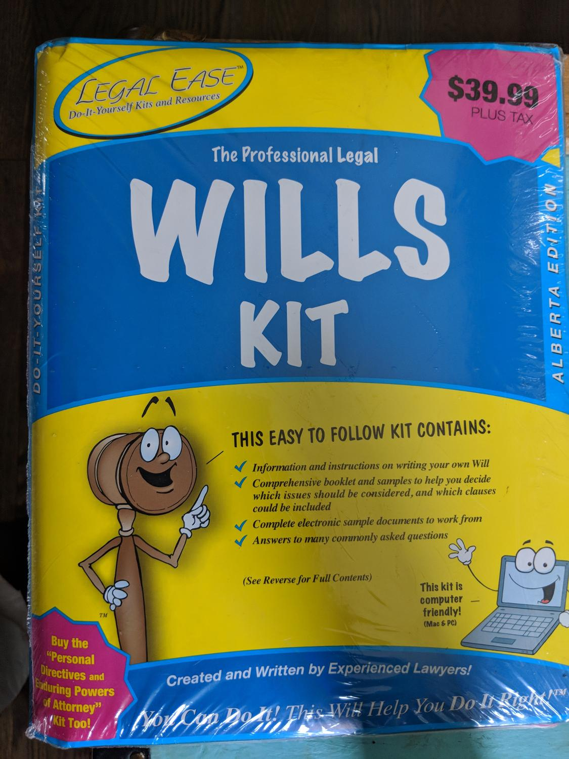 Best legal will kit new for sale in airdrie alberta for 2018 solutioingenieria Choice Image
