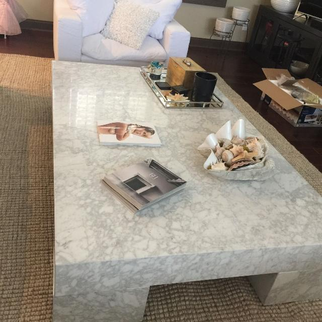 Find More Restoration Hardware Solid Marble Top Coffee Table For Sale At Up To 90 Off