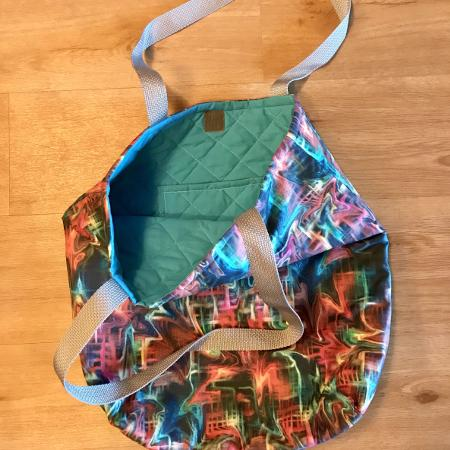 Large quilted tote bags, handmade for sale  Canada