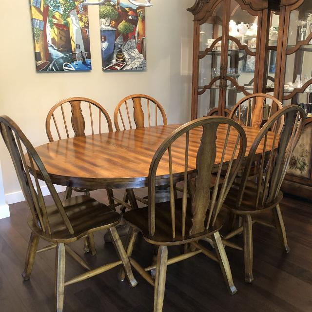 Ashley dining table with 6 chairs - open to offers