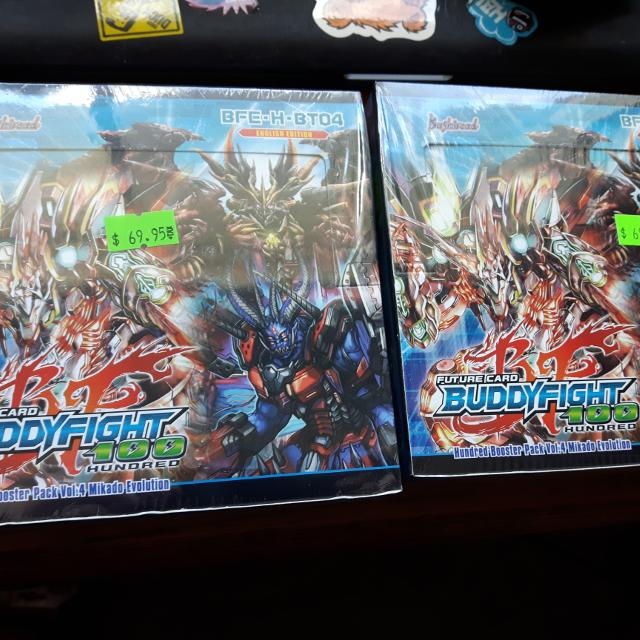 Two sealed boxes of Future Card Buddyfight 100 Mikado evolution