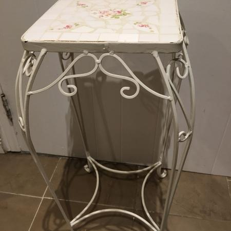 WHITE WROUGHT IRON ACCENT STAND for sale  Canada