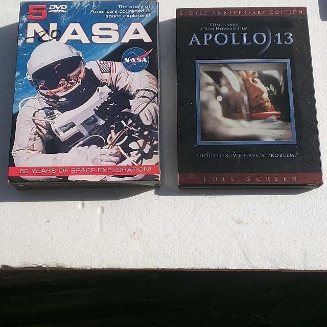 Apollo 13 box set and NASA 5 DVD set