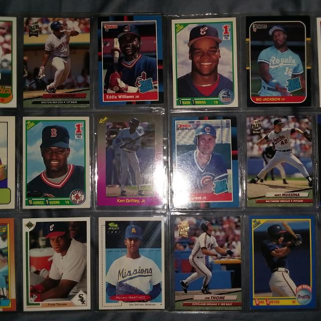 Lot Of 18 Mlb Pro Baseball Rookie Cards And 1st Year Player Card