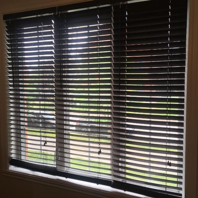 Find More Dark Brown Faux Wood Blinds 3 For Sale At Up To 90 Off